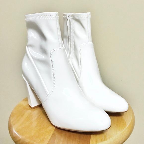 093e9fe9766 💥SALE💥 NWOT Steve Madden GAZE White Patent Boots